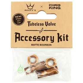 Peaty's X Chris King MK2 Accessory Kit for Tubeless Valves bourbon